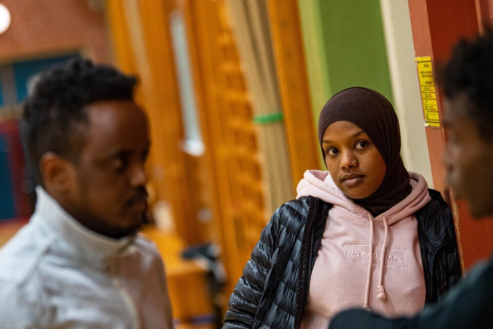 """Adan Mohammed and Yasmin Mahammud in the 'Youth for the Future'  association. """"I wish there had been people like us when I came to Sweden, who could tell us how things worked"""", says Yasmin."""