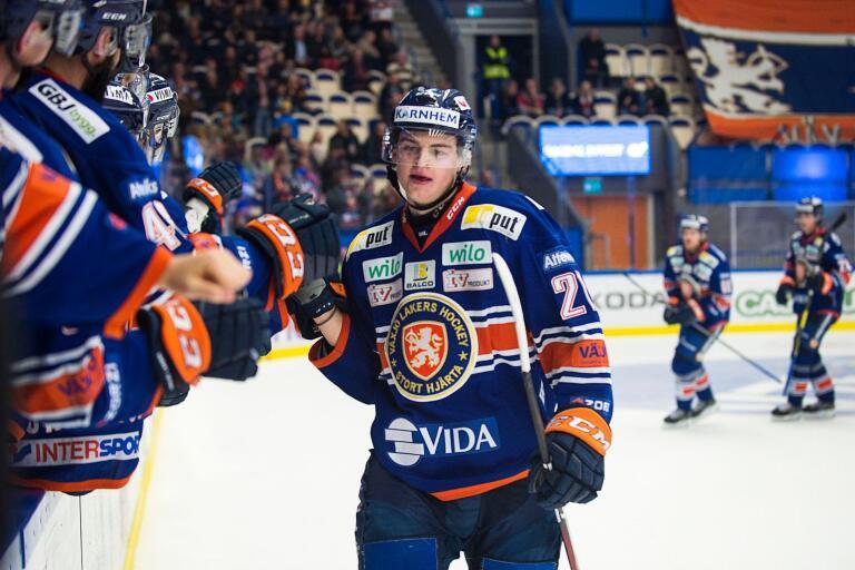 Filip Cederqvist är redan uppe i två gjorda SHL-mål.