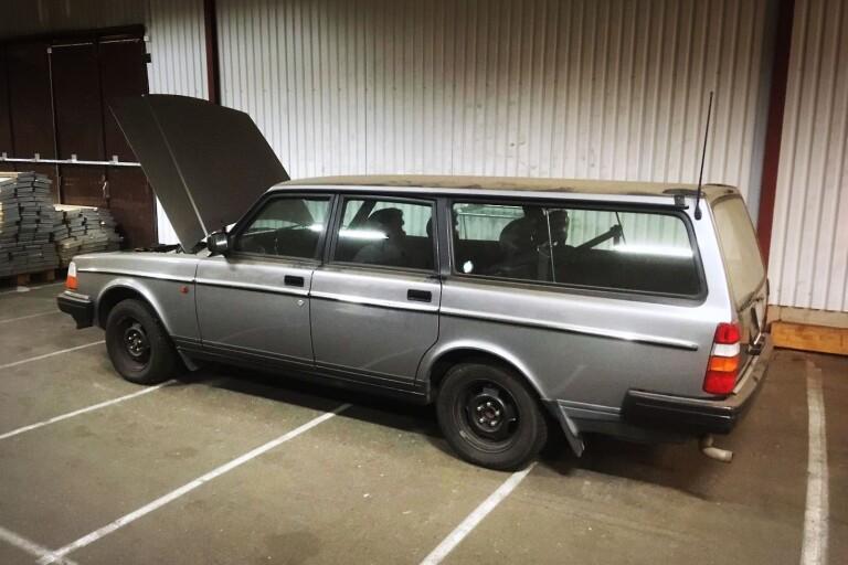 Kamprads Volvo dragplåster på utställning