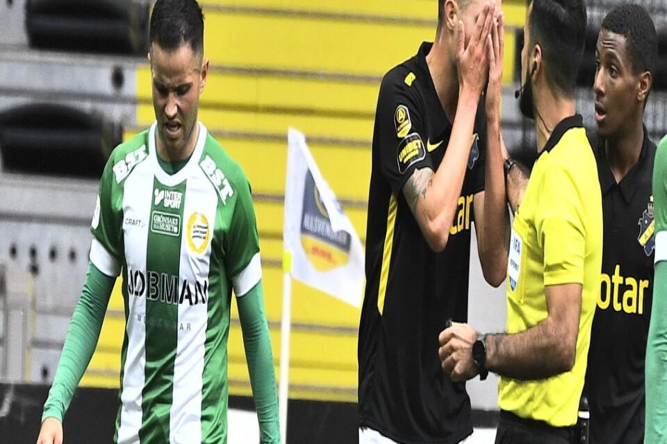 Mikael Lustig tycker att Mohanad Jeahze borde fått rött kort efter att ha måttat sitt huvud mot honom i halvtid.