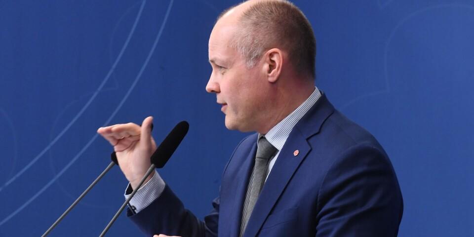 STOCKHOLM 20180207 Regeringen och justitieminister Morgan Johansson (S) har brett stöd i riksdagen för ändrade mediegrundlagar. De bör tänka om.