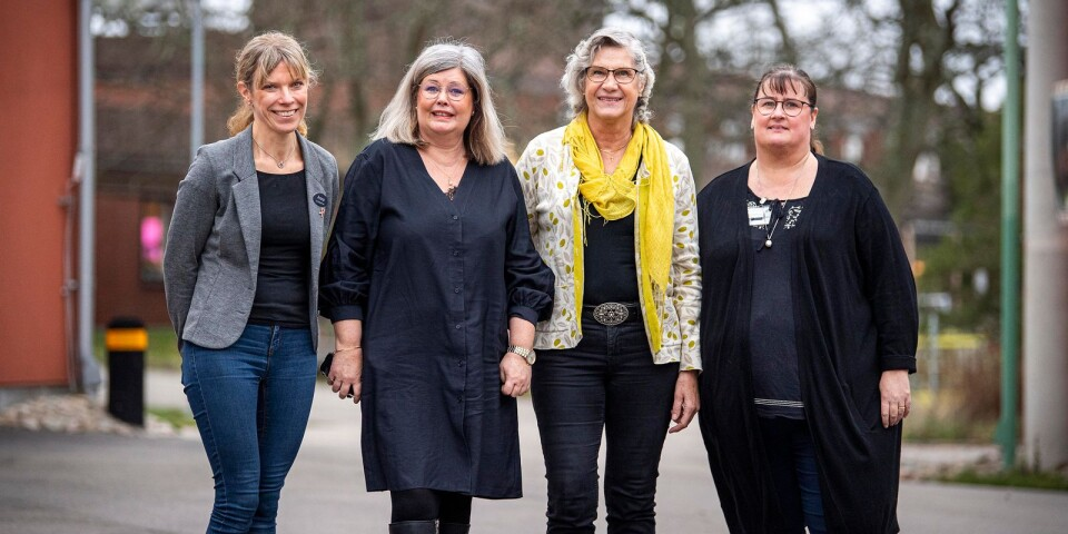 Anna Olsson, Charlotte Malm, Ann Johansson och Anette Österlund.