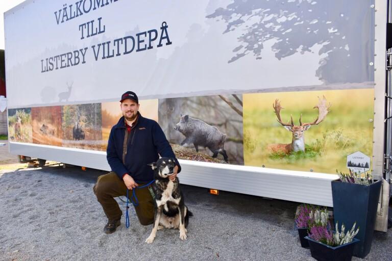 Han har öppnat en digitaliserad viltdepå i länet