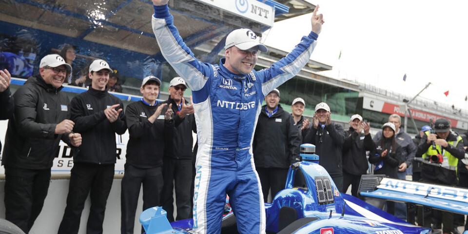Felix Rosenqvist stod i pole position i Indianapolis men slutade på åttonde plats i loppet.