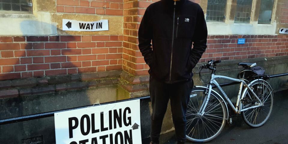 Josh Hermide röstar på Liberaldemokraterna.