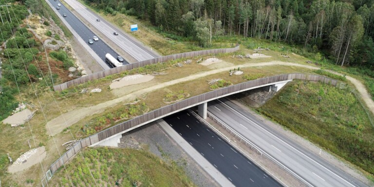 Fauna passages are being built on highway 25