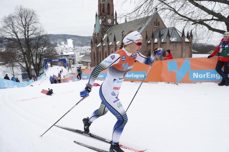 UIF:s Johanna Hagström gjorde ett vasst sprintkval i Drammen, men i kvartsfinalen blev det respass.
