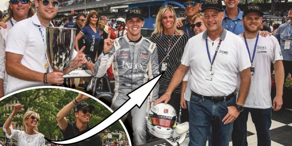 Pernilla från Ystad är mamma till den amerikanska racingstjärnan Oliver Askew. Nästa säsong kör han i värstingklassen IndyCar.