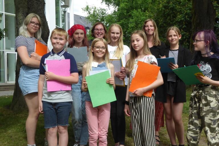 Ungdomar får utlopp för sin skrivglädje på biblioteket