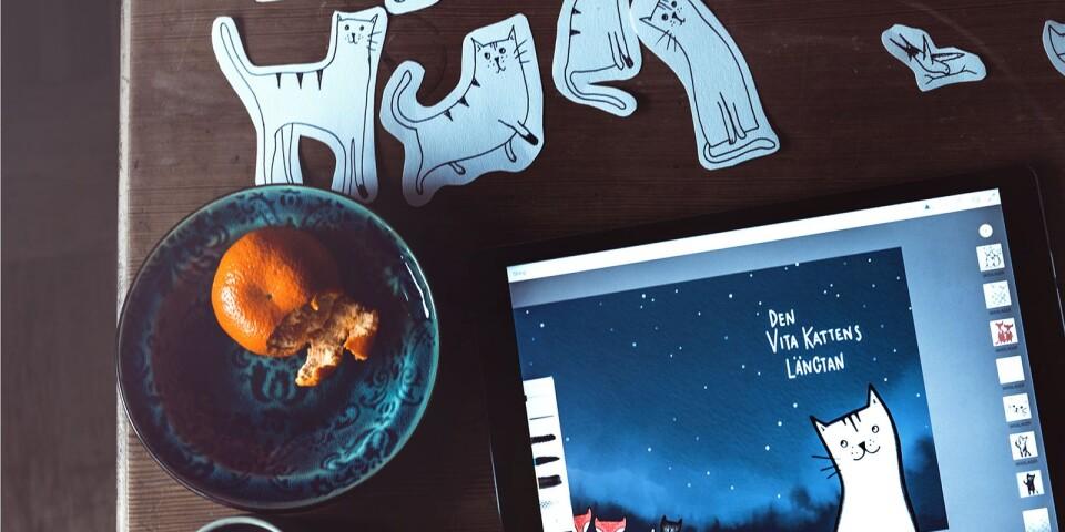 Anna Grundberg från Örnsköldsvik har illustrerat boken som släpps den 24 april.