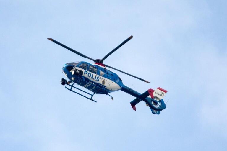 Vägrade stanna för polisen – jagades med helikopter genom Borås