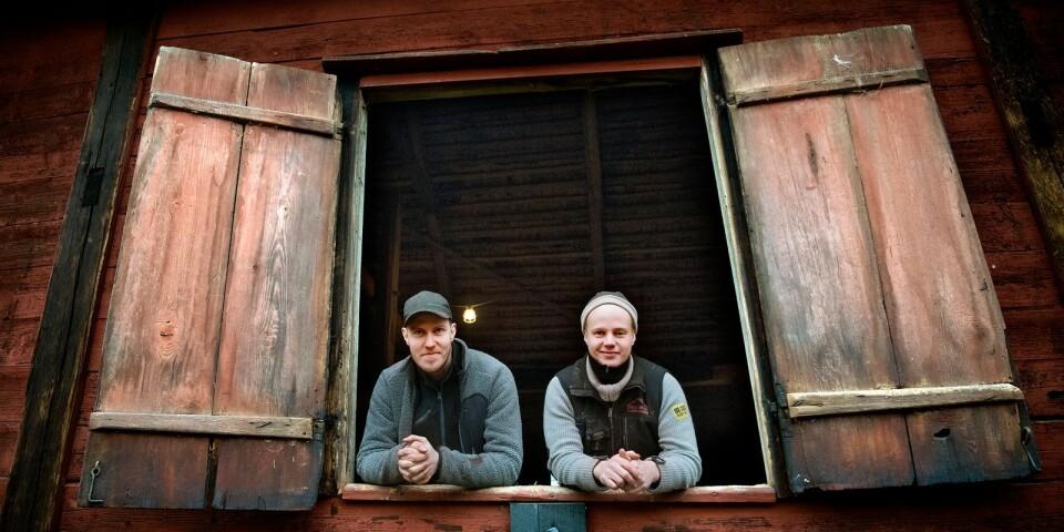 Snickarna, Michael Roslund och Ola Abrahamsson från Folkes bygg och byggnadsvård har säkrat ladan för många år framöver.