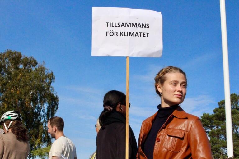 Cyklande aktivister strejkade för klimatet