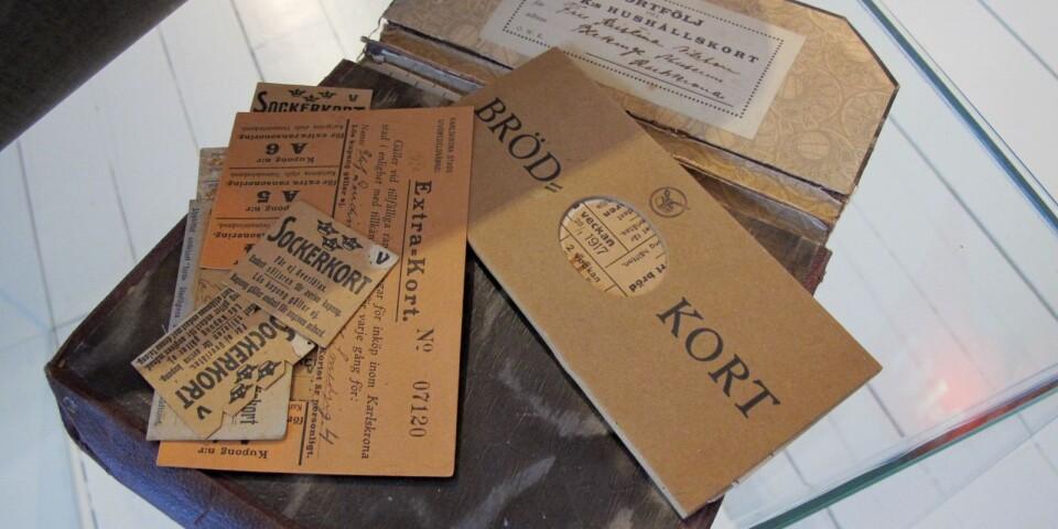 Ransoneringskort från första världskriget.