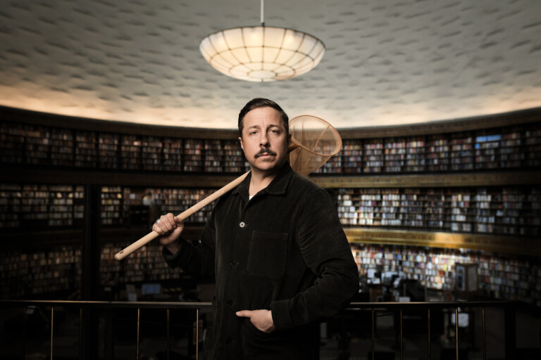 Komikern spelar in tv-serie i Borås
