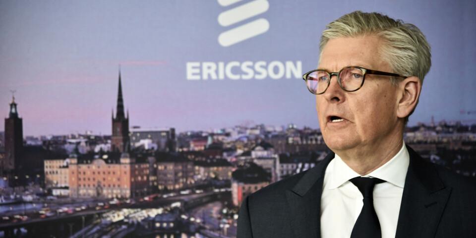 Ericssons vd Börje Ekholm kan räkna hem en 5G-order från Telenor. Arkivbild.