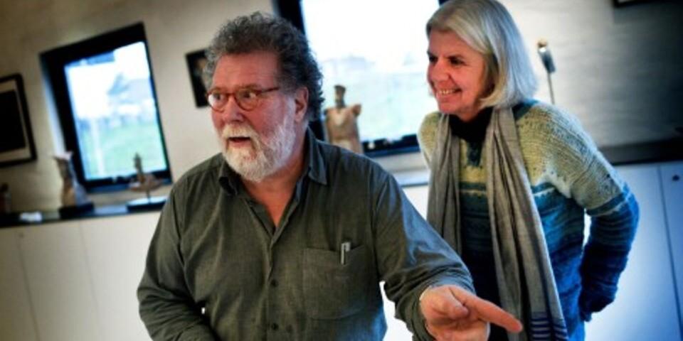 Konstnärsparet Börje Berglund och Maria Börjesson.