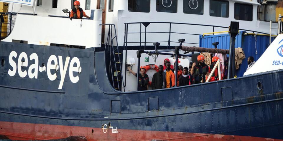 Undsatta migranter ombord på Alan Kurdi i november 2019. Arkivbild.
