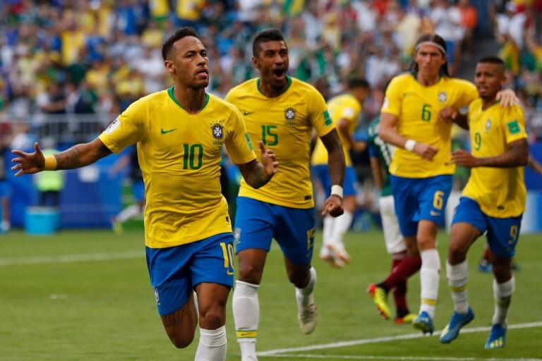Brasilien skickade ut Mexiko ur VM