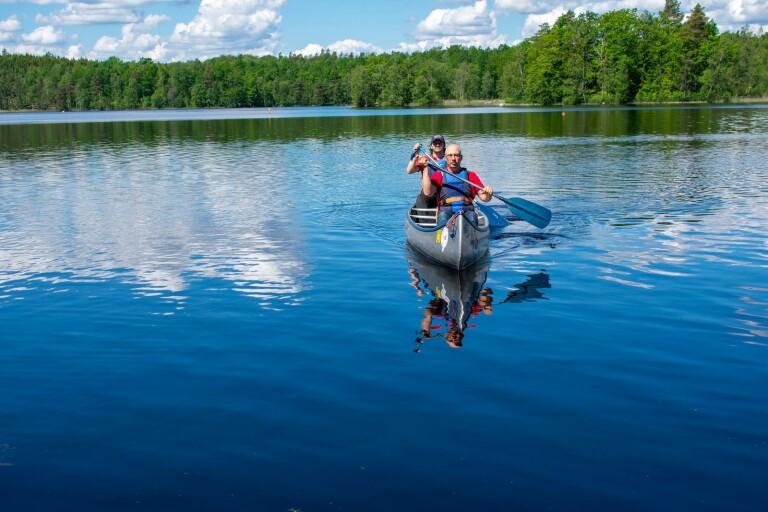 Kanotäventyr på Blekinges största sjö