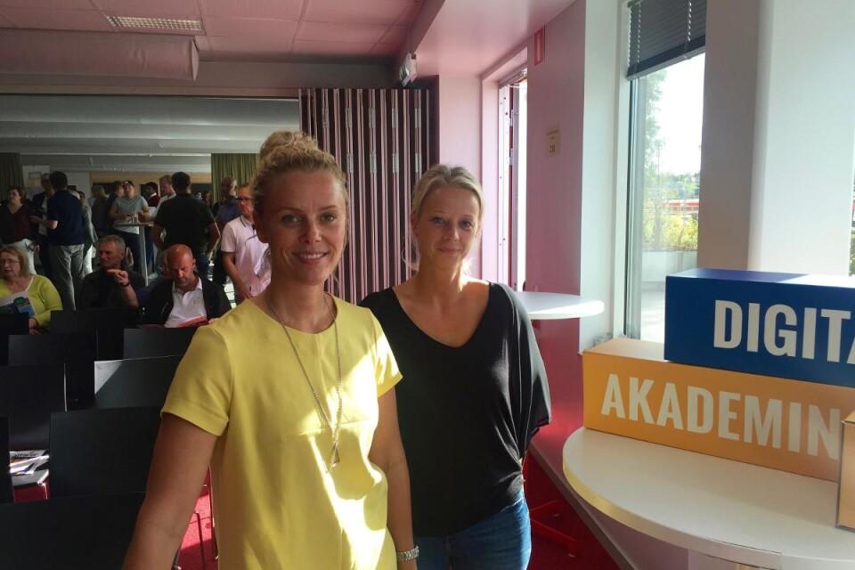 Deltagare: Jennifer och Mia från Tingsryds autoverkstad. Foto: Emma Koivisto