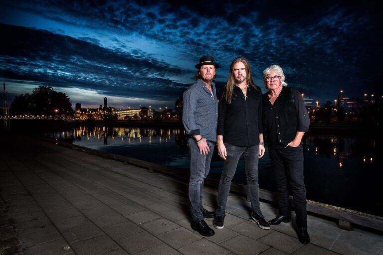 Trion Wreck of Blues utelämnar sig till dagens –och nattens – inspiration. Från vänster Kalle Johansson, Pontus Snibb och Håkan Nyberg.