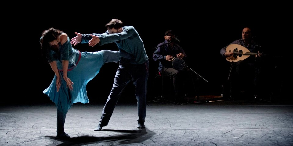 "En scen ur ""Nayrab"" av Skånes Dansteater."