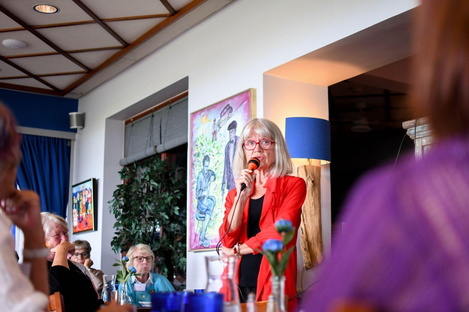 """""""Att åldras tog 70 år, att definieras som infektionskänslig uråldring tog cirka sju sekunder"""", konstaterade Karin Thunberg i sitt föredrag."""