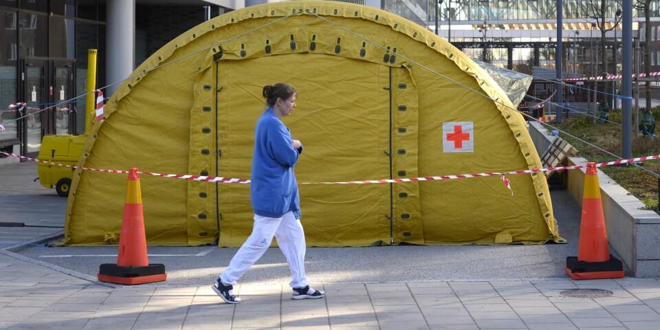 Patienter med coronasymtom ska få vård i tält – Upsala Nya