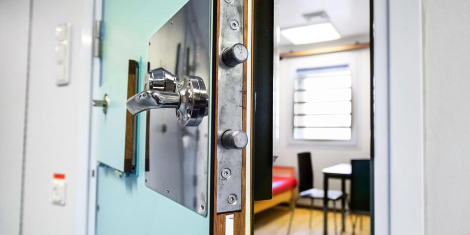 Ett besöksrum på häktet i Huddinge söder om Stockholm. Arkivbild.