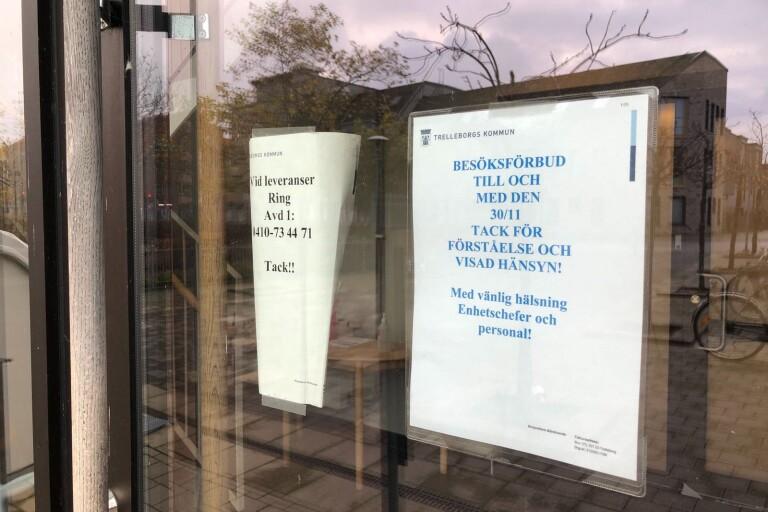 Smitta på äldreboende i Trelleborg - stängs omedelbart för besök