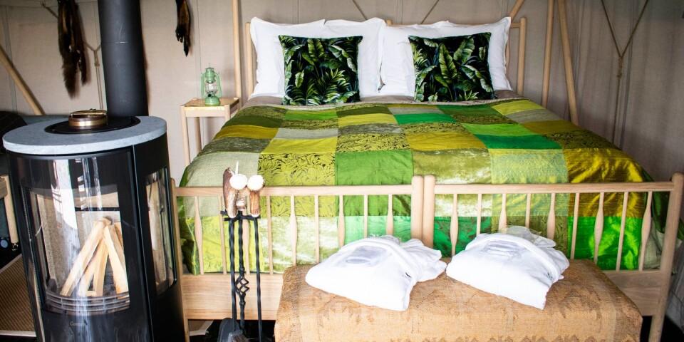 Madrasserna i sängarna är likadana som på hotellrummen.