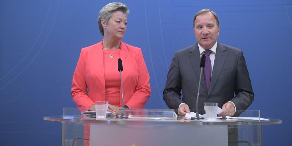"""Söker """"makt och inflytande"""": Ylva Johansson och Stefan Löfven."""