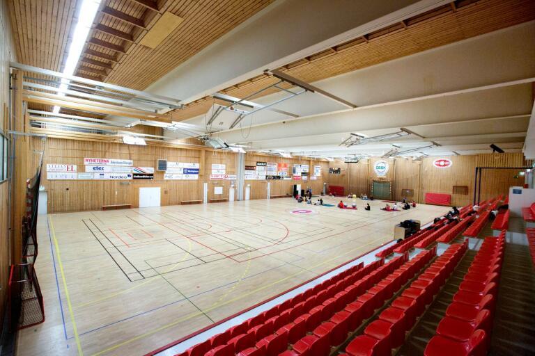 Satsningarna på sporthallarna skjuts framåt i tiden. Men golvfrågan måste lösas rätt snart.