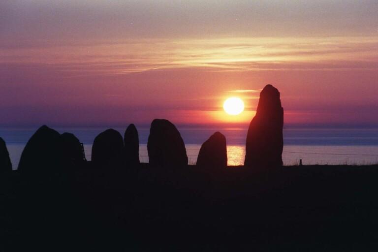 Solnedgång vid Ales stenar.