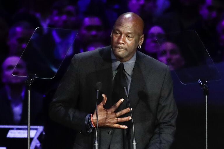 Michael Jordan gör en jättedonation till organisationer som jobbar för bland annat social rättvisa. Arkivbild.