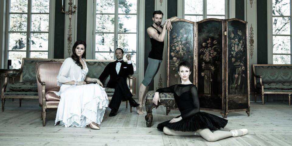 Balett möter ballroom när Katariina Edling och Dragos Mihalcea intar skolscenen i Tingsryd tillsammans med Let's dance-profilerna Helena Fransson och Tobias Wallin. En ny genre på Gibson auditorium.