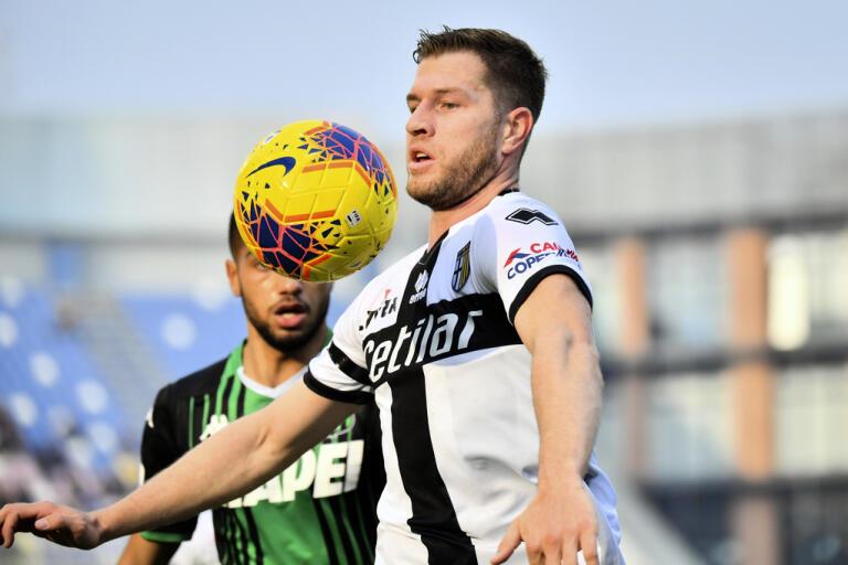 Svenske landslagsbacken Riccardo Gagliolos Parma är först ut när Serie A återupptas den 20 juni. Arkivbild.