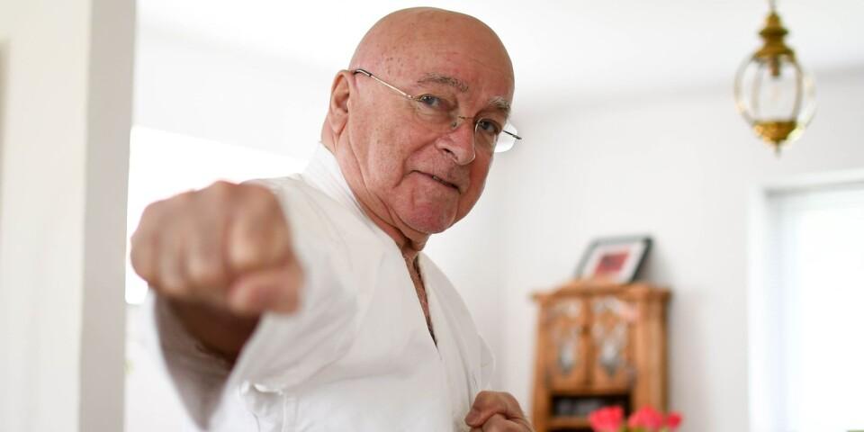 Dag Lind är själv instruktör i Simrishamns karateklubb sedan tjugo år tillbaka.