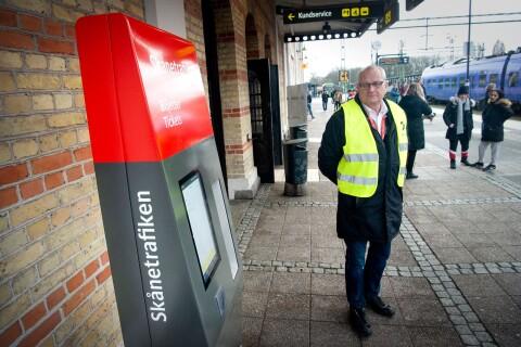 Skånetrafiken: Att resenärer kastas av tåget på grund av trasiga mobiler är inte vanligt