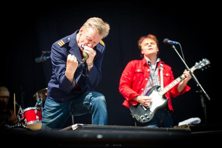 Jalle Lorensson och Nisse Hellberg imponerade med ett återförenat Wilmer X på Sweden Rock.