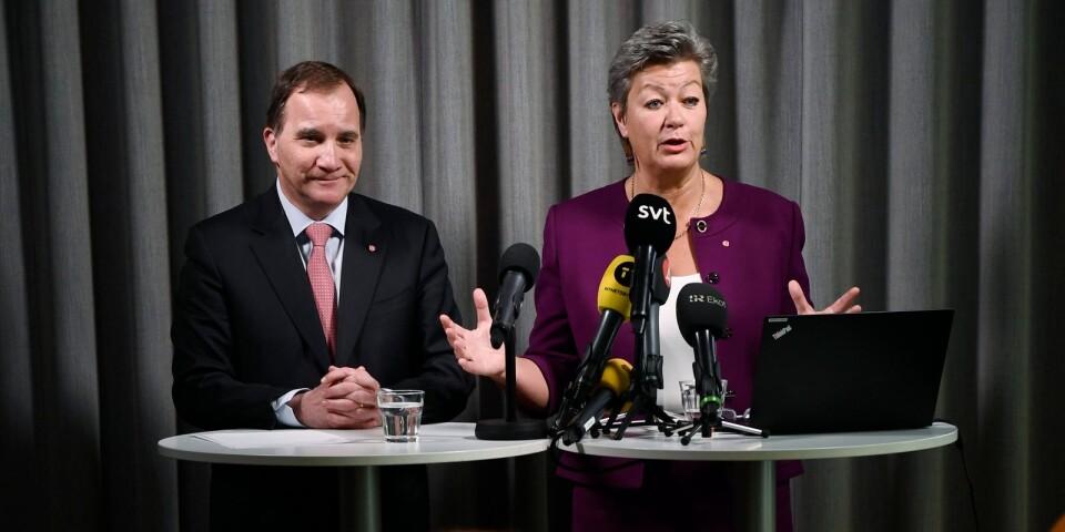 Stefan Löfven och Ylva Johansson presenterar nya förslag kring arbetskraftsinvandringen.
