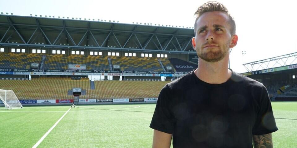 Rasmus Alm gjorde målet mot MFF.