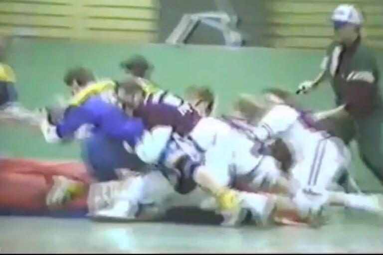 1989: Här ser du killmatchen i skolrugbyn