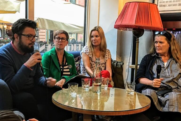 Baltic Sea Competitions jury Sanjin Pejković (filmkritiker), Marjo Portin från Litorina Folkhögskola, Miira Paasilinna (vd) och Helene Granqvist (producent).