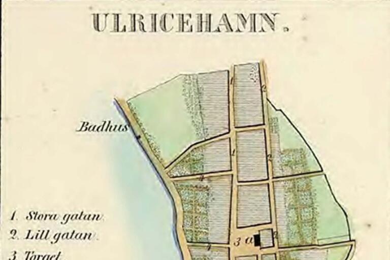 Ulricehamn 1856, av Gustav Ljunggren.