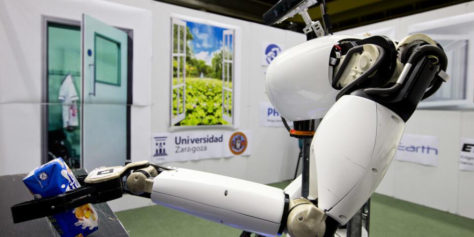 En robot på det tekniska universitetet i nederländska Eindhoven. Arkivbild.