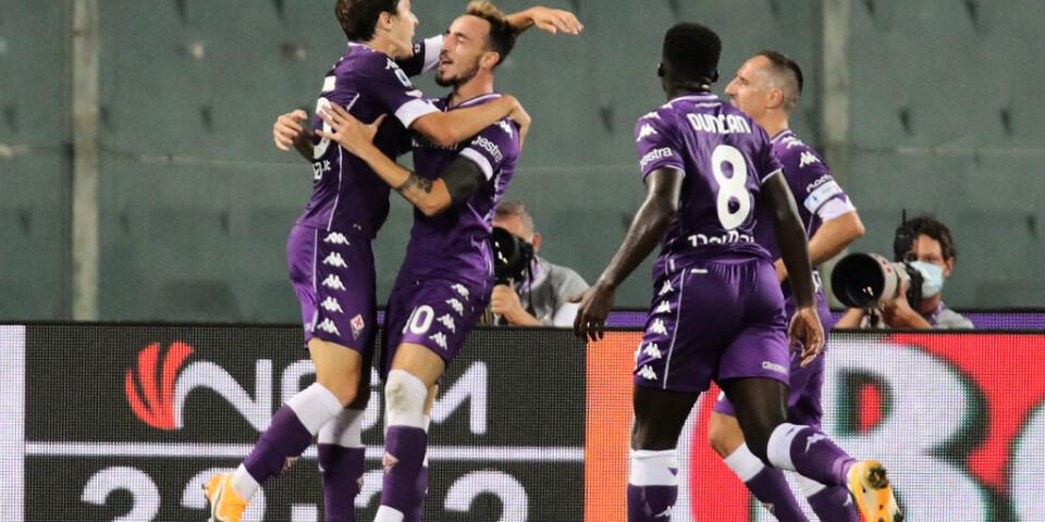 Gaetano Castrovilli gjorde Fiorentinas mål mot Torino.