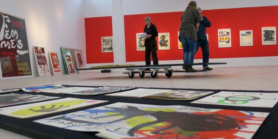 2014 visades Nils Trydings Joan Miró-samling i Tomelilla konsthall.