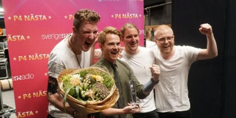 Wictor Helgesson, Robin Lundahl, Henrik Westberg och Johan Marberg i Surfing the Orbit.